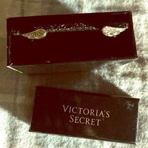 Victoria Secret Angel Wing cuff gold tone bracelet